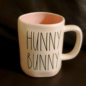 Rae Dunn HUNNY BUNNY matte pink interior New mug